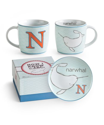 N is for Narwhal Mug & Plate