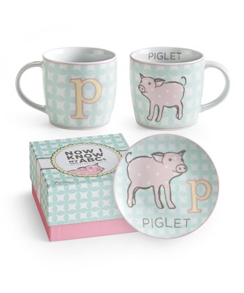 P is for Piglet Mug & Plate