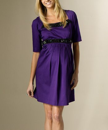 Brit Purple Kennedy Maternity Dress