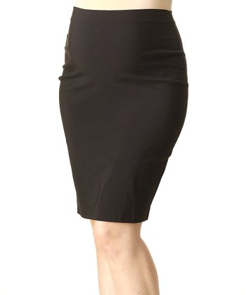Steel Pret Classic Mid-Belly Maternity Pencil Skirt
