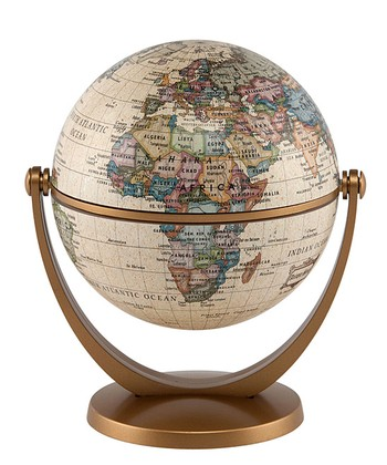 Antique 4'' Swivel & Tilt Mini Globe