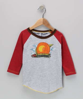 Cream & Red 'Allman Brothers' Raglan Tee - Infant, Toddler & Kids