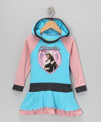 Blue & Pink 'Blondie' Ruffle Dress - Infant, Toddler & Girls