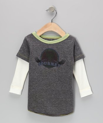 Gray & Green 'Journey' Layered Tee - Infant, Toddler & Kids