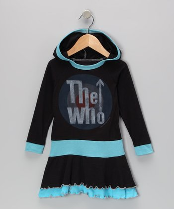 Black & Blue 'The Who' Ruffle Dress - Infant, Toddler & Girls