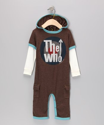 Brown & Blue 'The Who' Playsuit - Infant