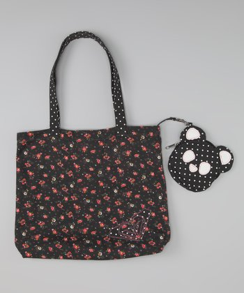 Black Piñata Tote & Coin Purse