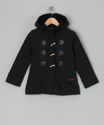 True Black Star Bright Fleece Jacket - Toddler & Girls