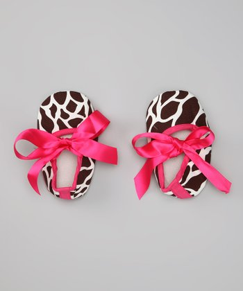 Hot Pink Giraffe Bow Flat