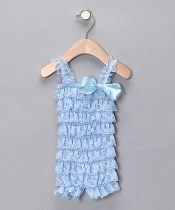 Light Blue Ruffle Romper - Infant & Toddler