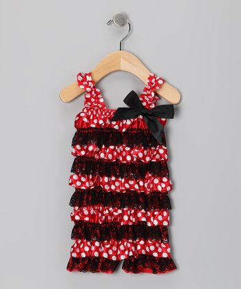 Red Ms. Mouse Ruffle Romper - Infant & Toddler