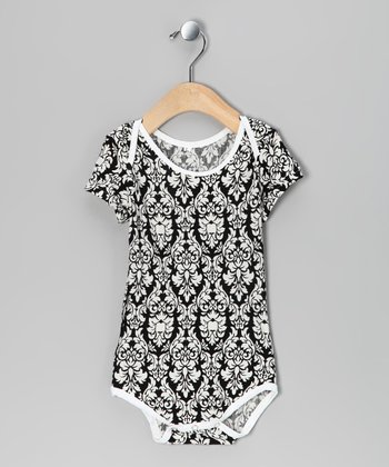 Black Damask Bodysuit - Infant