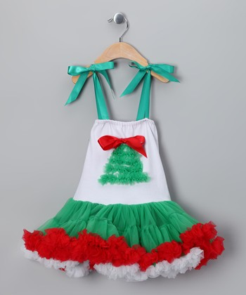 Green Christmas Tree Pettiskirt Dress - Infant, Toddler & Girls