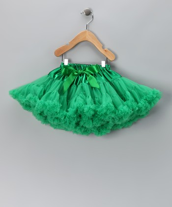 Green Ruffle Pettiskirt - Toddler & Girls
