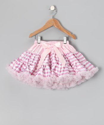 Pink Stripe Satin Pettiskirt - Toddler & Girls