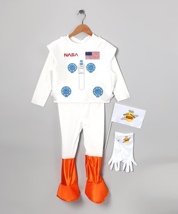 White Astronaut Dress-Up Set - Kids