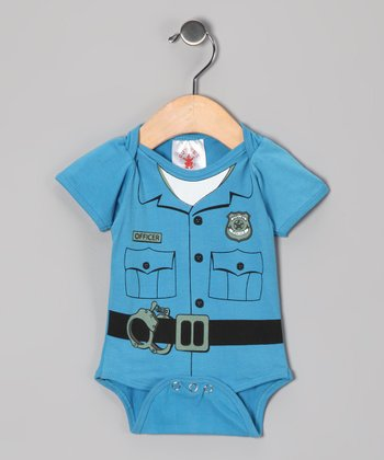Blue Police Officer Dress-Up Bodysuit - Infant