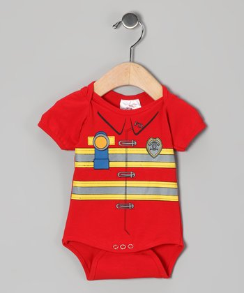 Red Firefighter Dress-Up Bodysuit - Infant