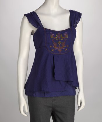 Royal Purple Layered Tank