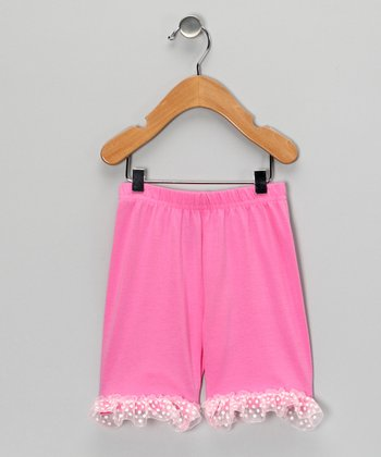 Pink Ruffle Shorts - Toddler & Girls