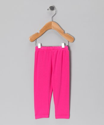 Hot Pink Leggings - Toddler & Girls