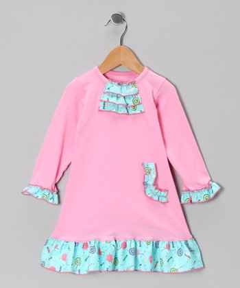 Pink Lollipop Ruffle Dress - Infant, Toddler & Girls