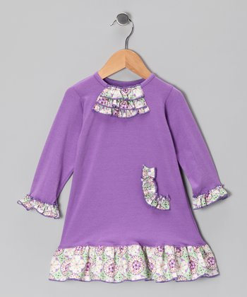 Lavender Sundrop Floral Ruffle Dress - Infant