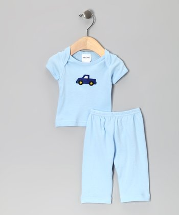 Light Blue Truck Tee & Pants