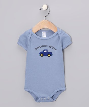 Vintage Blue 'Trucks Ride' Bodysuit