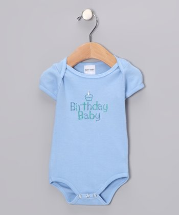 Light Blue 'Birthday Baby' Bodysuit - Infant