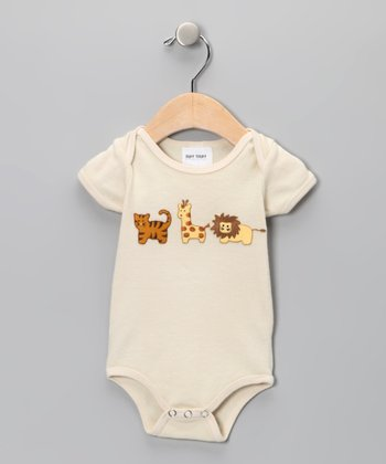 Tan Zoo Friends Bodysuit - Infant