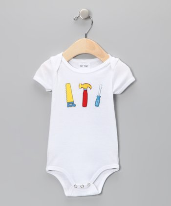 White Mr. Fix It Bodysuit