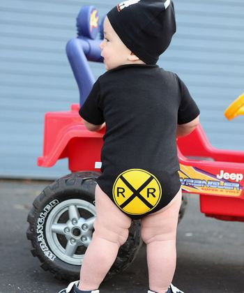 Black Railroad Diaper Cover - Infant