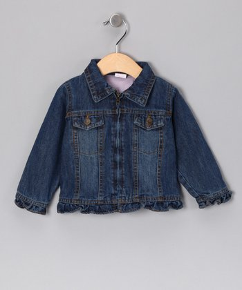 Blue Denim Zip-Up Jacket - Infant & Toddler