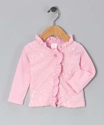 Pink Sequin Cardigan - Infant & Toddler