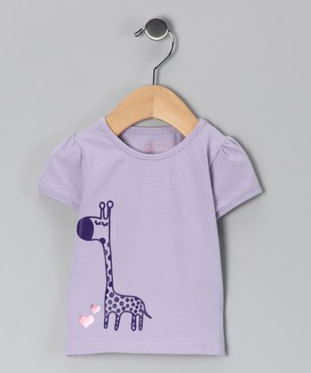 Lavender Giraffe Tee - Infant & Toddler