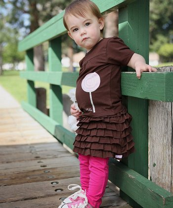 Chocolate Ruffle Skirt - Infant