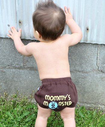 Brown 'Mommy's Monster' Diaper Cover - Infant