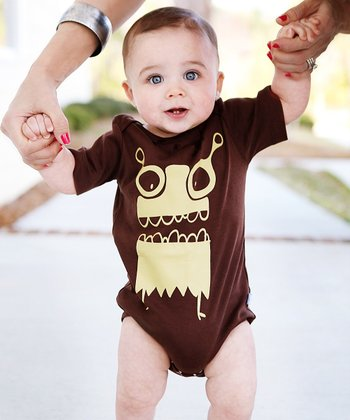 Brown 'Mommy's Monster' Bodysuit - Infant & Toddler