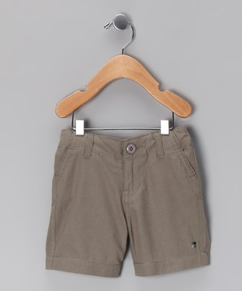 Slate Woven Shorts - Infant & Toddler