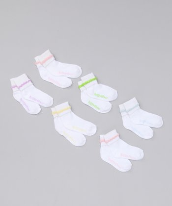 White Cuffed Socks Set