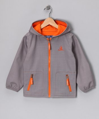 Gray Hooded Jacket - Toddler & Girls