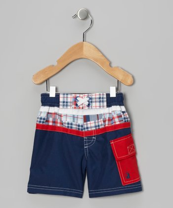 Navy Junior Rowing Champ Swim Trunks - Toddler