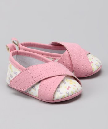 Rugged Bear Pink Crisscross Ballet Flat