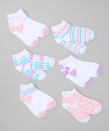 Lavender & Teal Stripe Socks Set