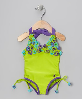 Kiwi Flower Vacation Halter One-Piece - Infant & Toddler