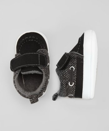 Black Fold-Over Sneaker