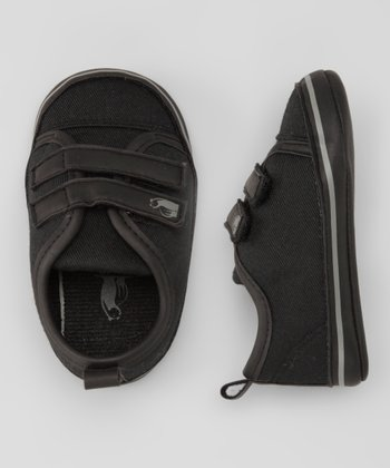 Rugged Bear Black Double-Strap Sneaker