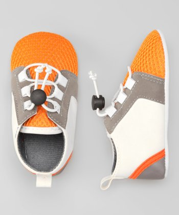 Rugged Bear White & Orange Sneaker