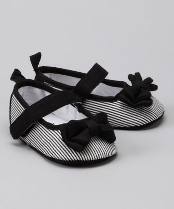 Rugged Bear Black Stripe Mary Jane